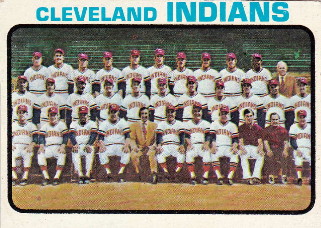 Cleveland Indians 1973 Team Photo – 1973 Topps #629